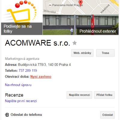 Návod: Založení účtu Google Moje firma apropojení sGoogle AdWords